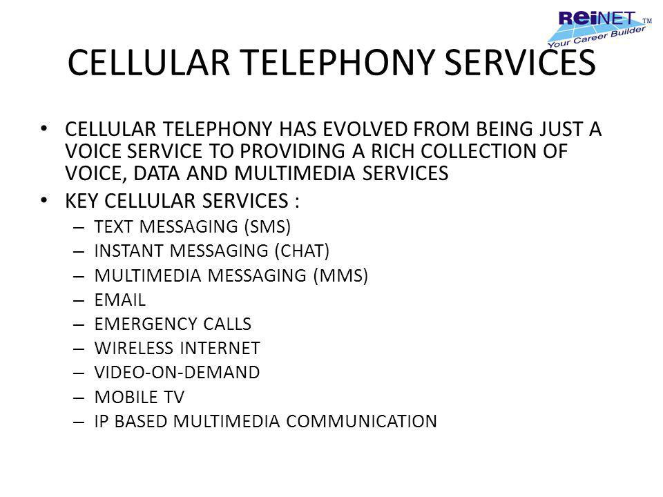 CELLULAR TELEPHONY SERVICES