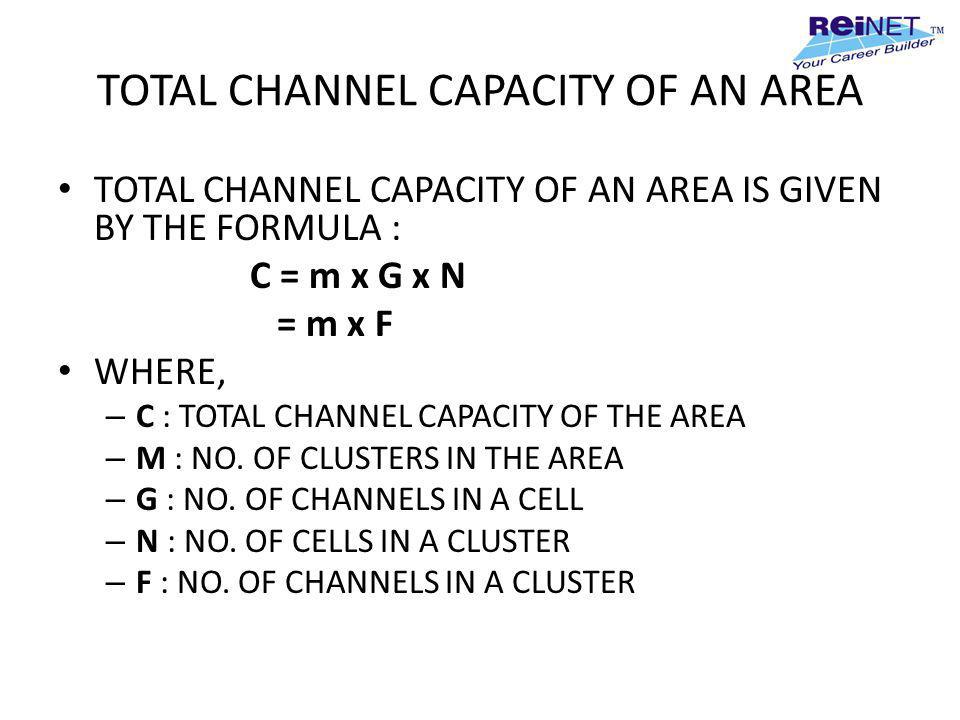 TOTAL CHANNEL CAPACITY OF AN AREA