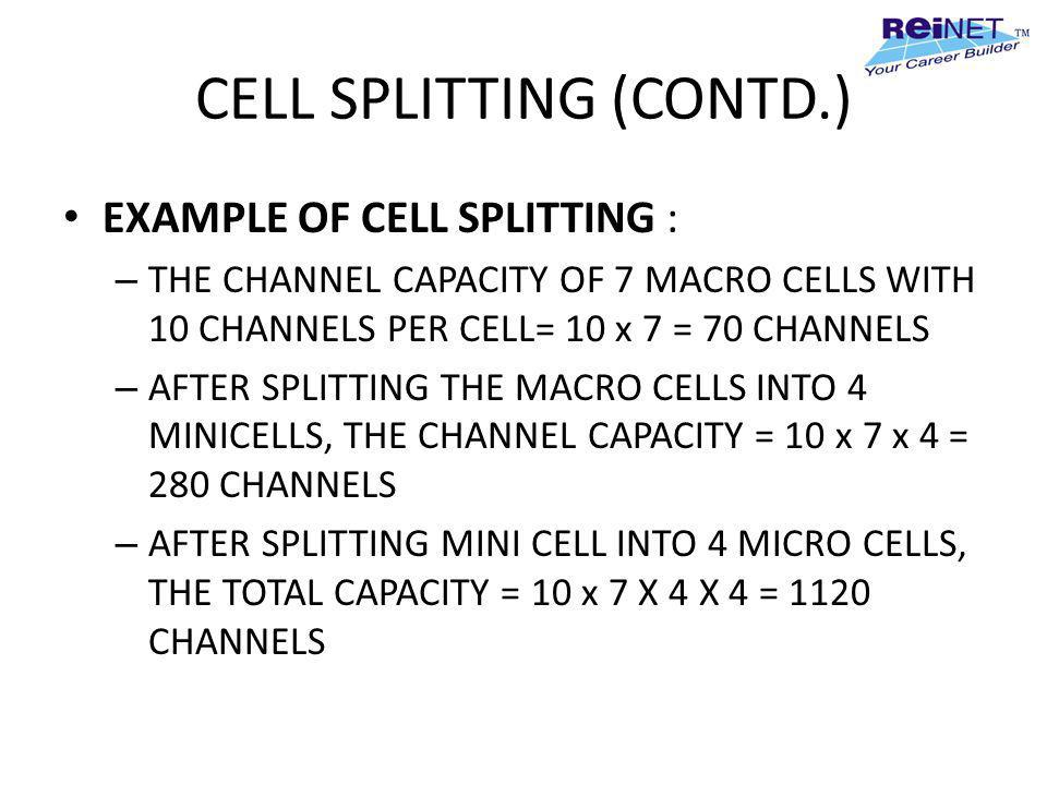 CELL SPLITTING (CONTD.)