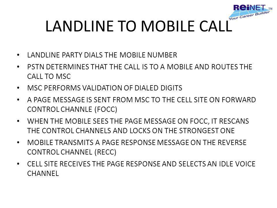 LANDLINE TO MOBILE CALL