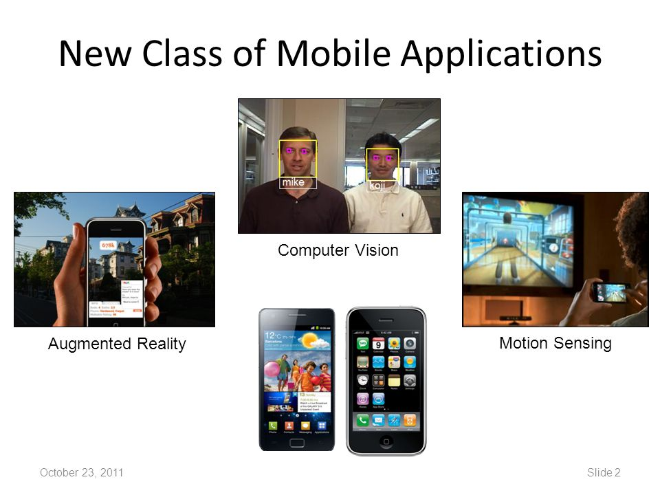 New Class of Mobile Applications