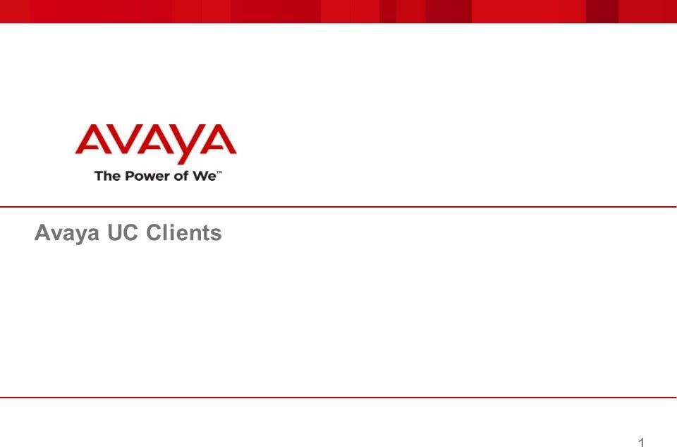 Avaya UC Clients