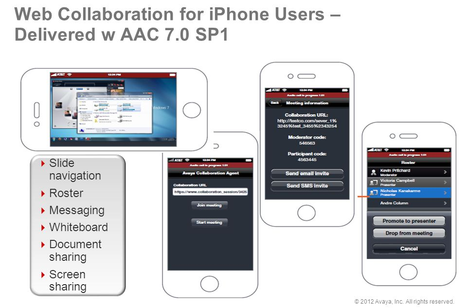 Web Collaboration for iPhone Users – Delivered w AAC 7.0 SP1