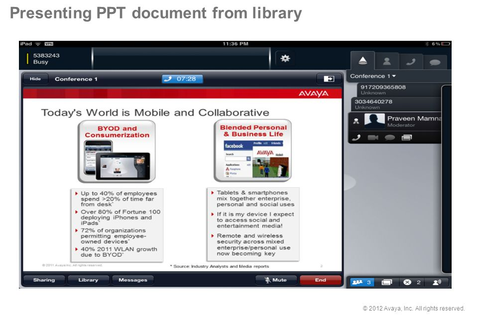 Presenting PPT document from library