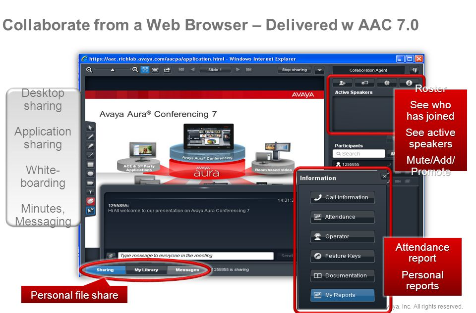 Collaborate from a Web Browser – Delivered w AAC 7.0
