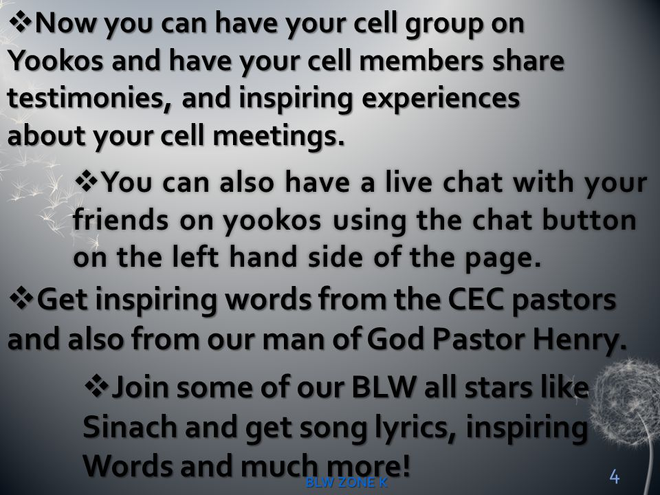 Get inspiring words from the CEC pastors