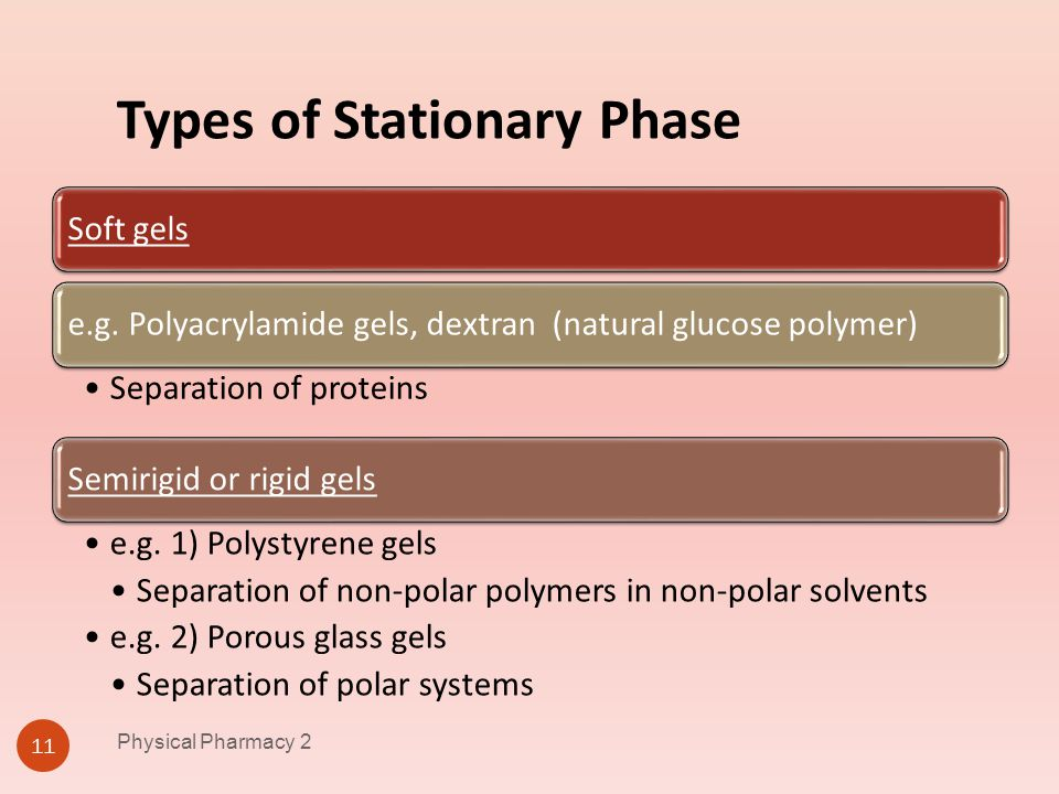 Types of Stationary Phase