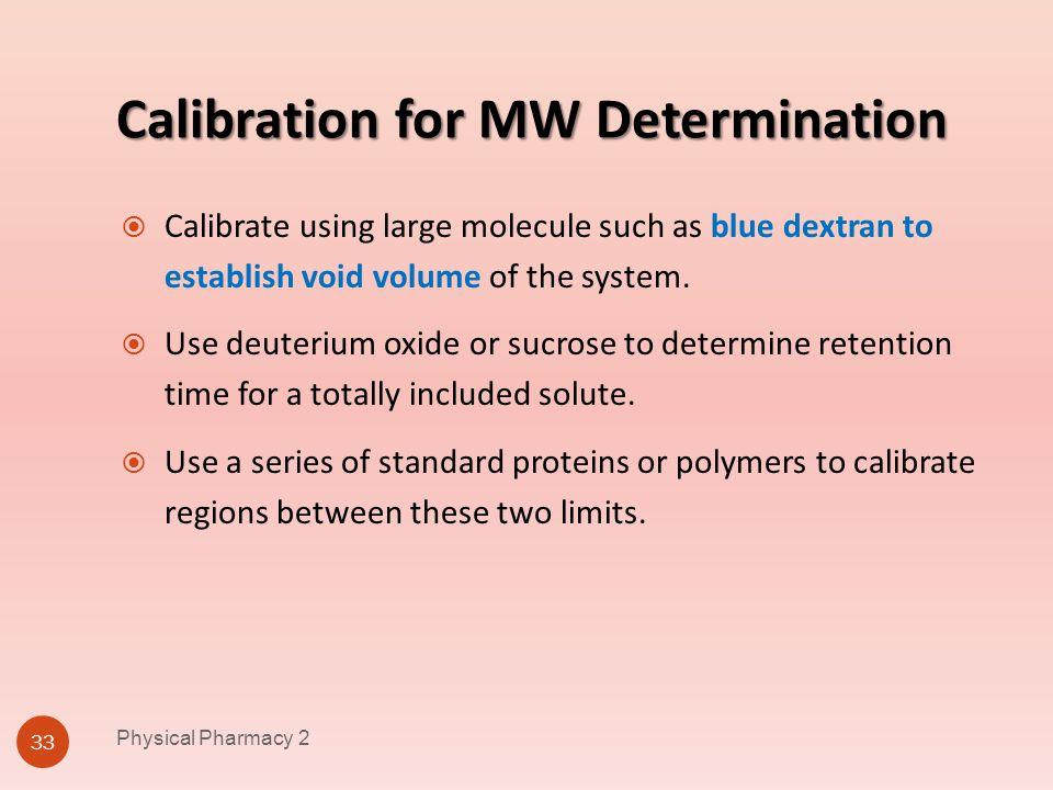 Calibration for MW Determination