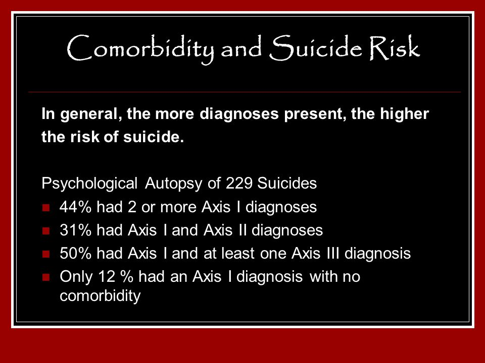 Comorbidity and Suicide Risk