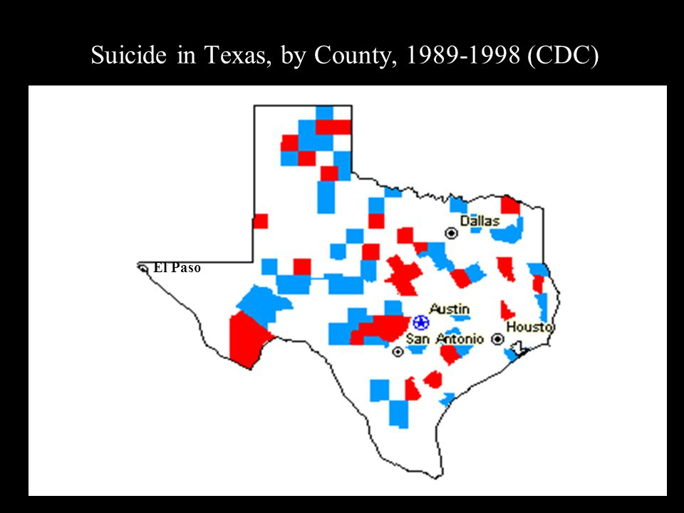 Suicide in Texas, by County, 1989-1998 (CDC)