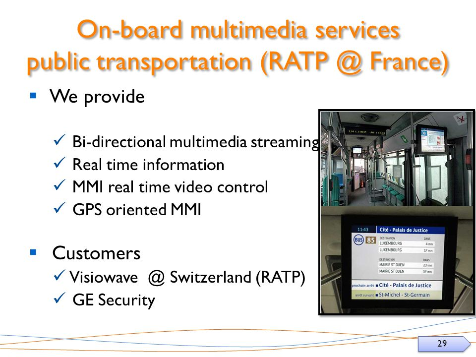 On-board multimedia services public transportation France)