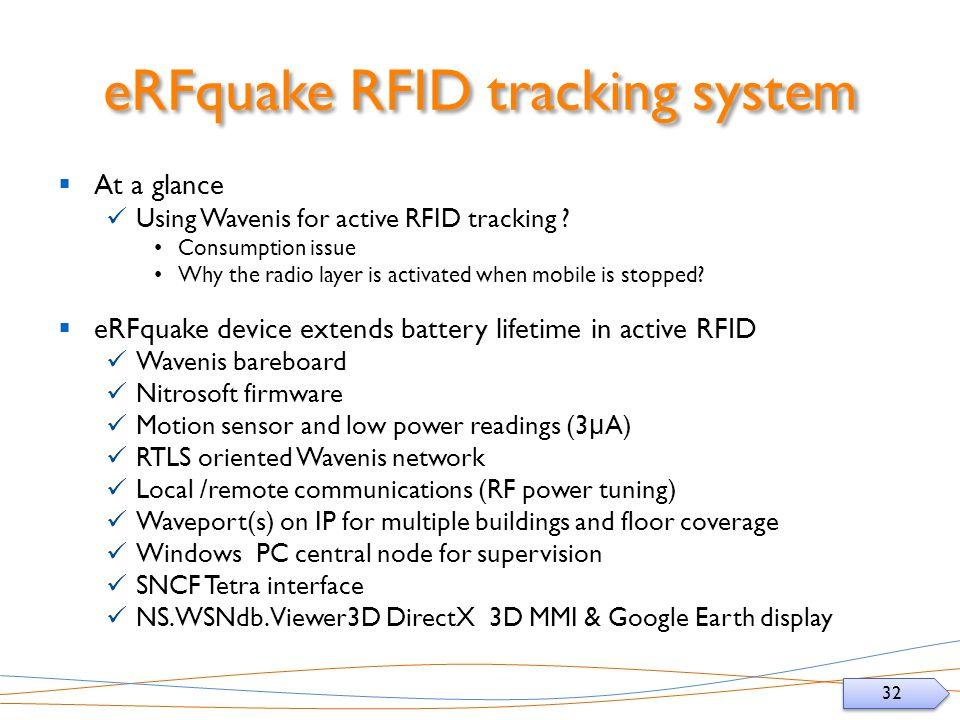 eRFquake RFID tracking system