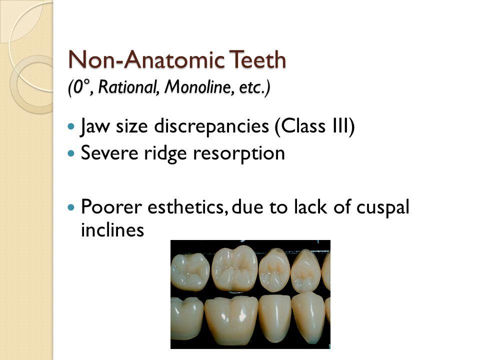 Non-Anatomic Teeth (0°, Rational, Monoline, etc.)