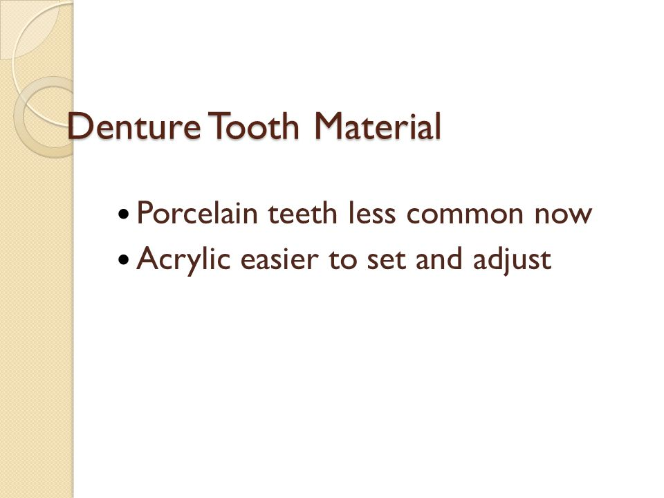 Denture Tooth Material