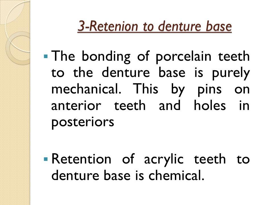 3-Retenion to denture base