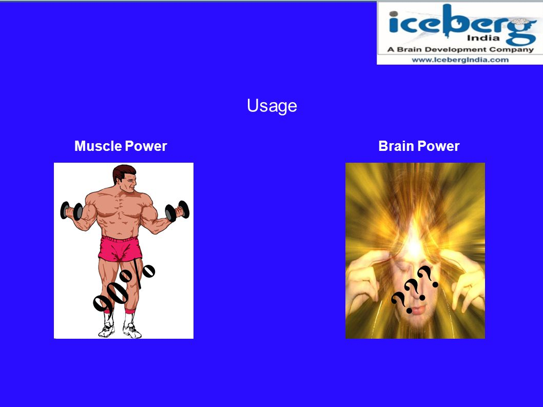 Usage Muscle Power Brain Power 90%