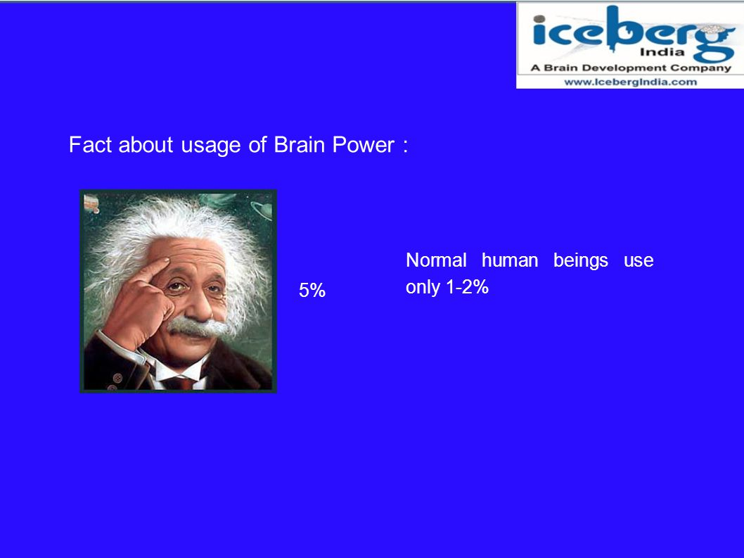 Fact about usage of Brain Power :