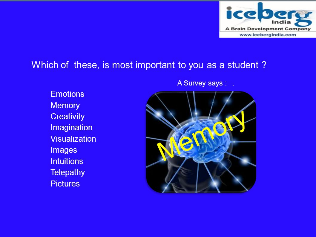 Memory Which of these, is most important to you as a student