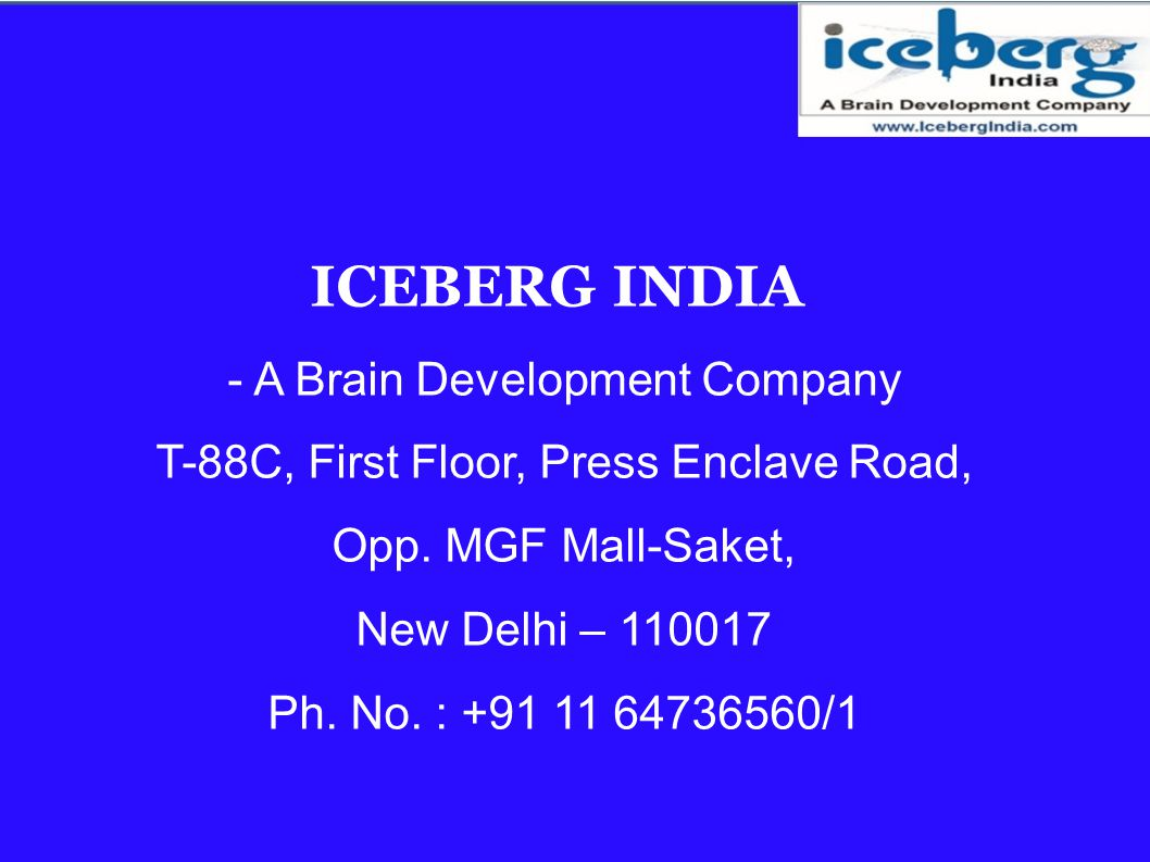 ICEBERG INDIA - A Brain Development Company
