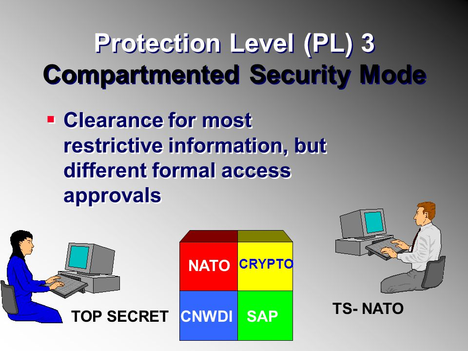 Protection Level (PL) 3 Compartmented Security Mode
