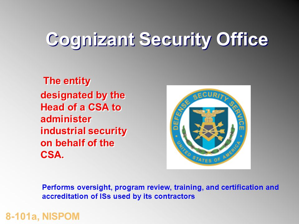 Cognizant Security Office