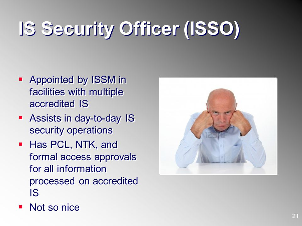 IS Security Officer (ISSO)
