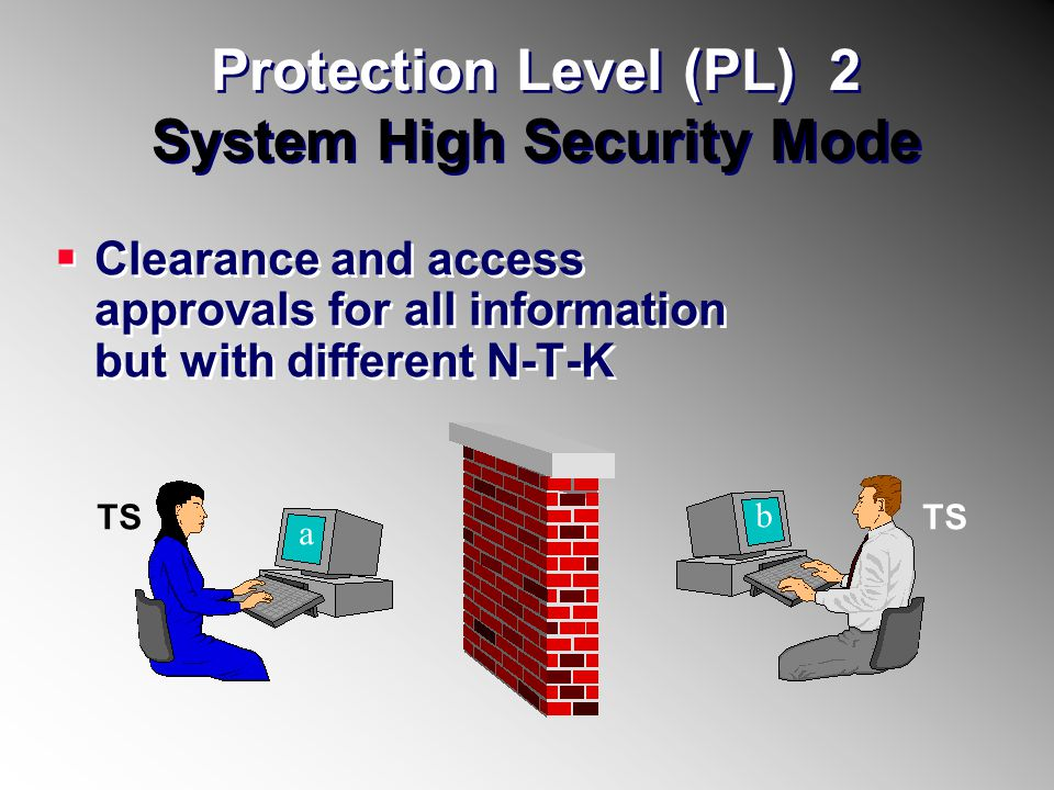 Protection Level (PL) 2 System High Security Mode