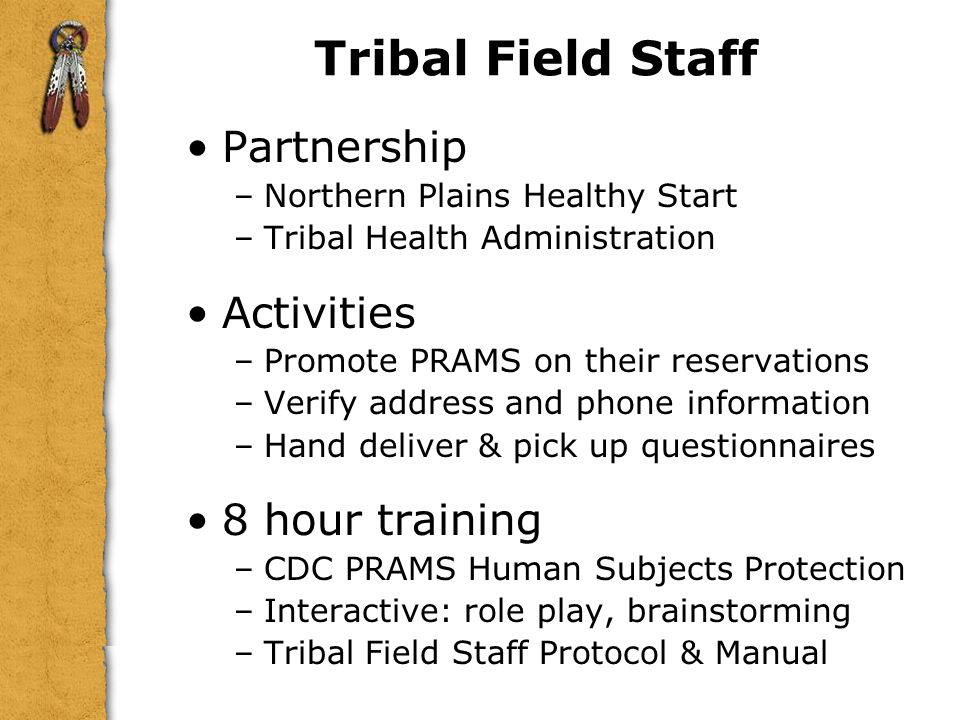 Tribal Field Staff Partnership Activities 8 hour training