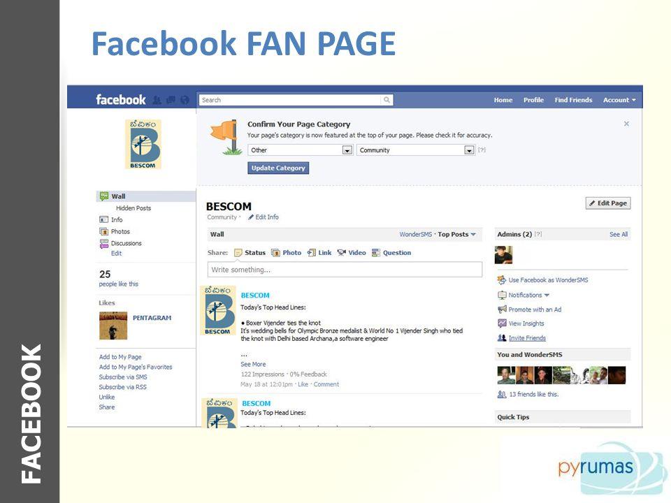 Facebook FAN PAGE FACEBOOK