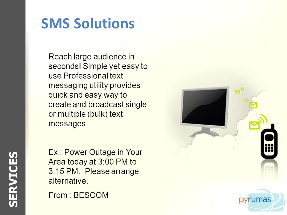 SMS Solutions SERVICES