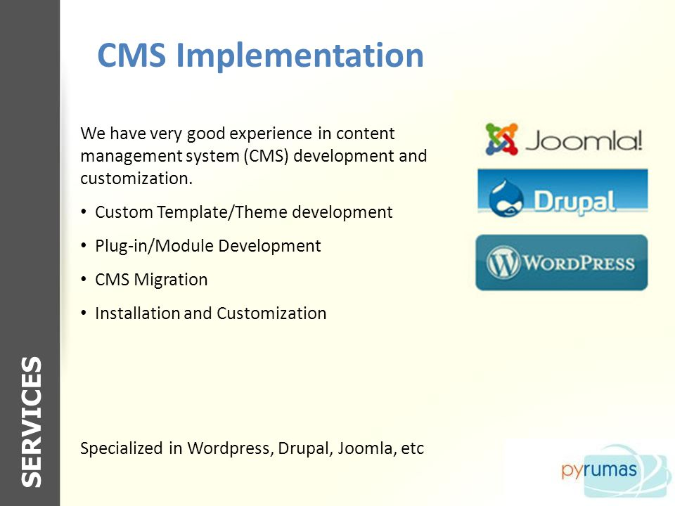 CMS Implementation SERVICES