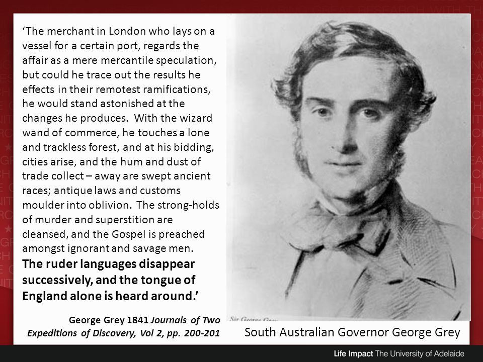 South Australian Governor George Grey