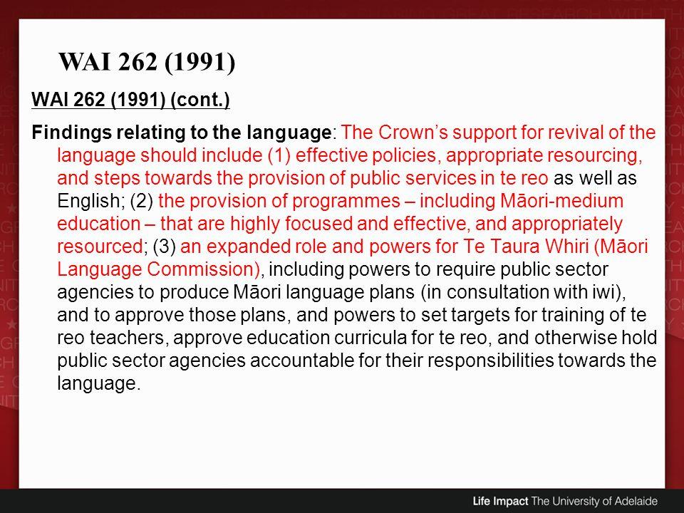 WAI 262 (1991)