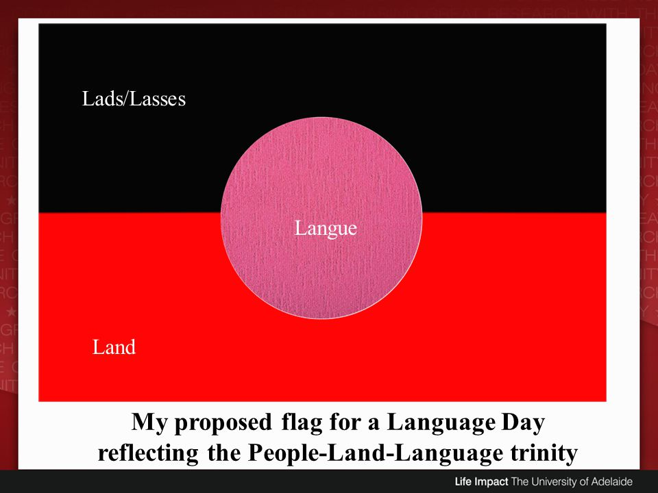 My proposed flag for a Language Day