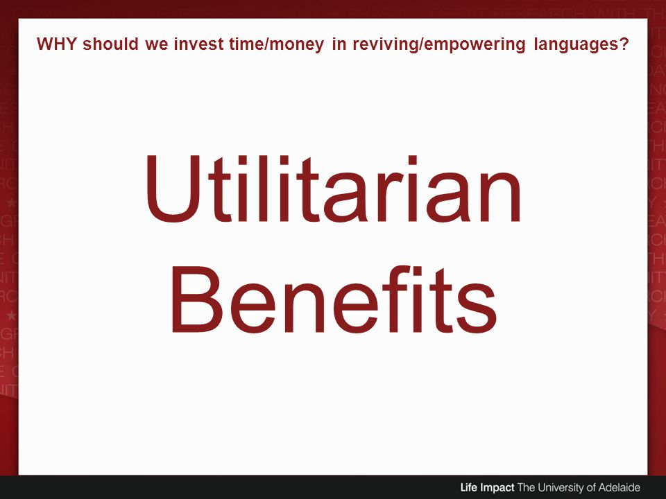 WHY should we invest time/money in reviving/empowering languages
