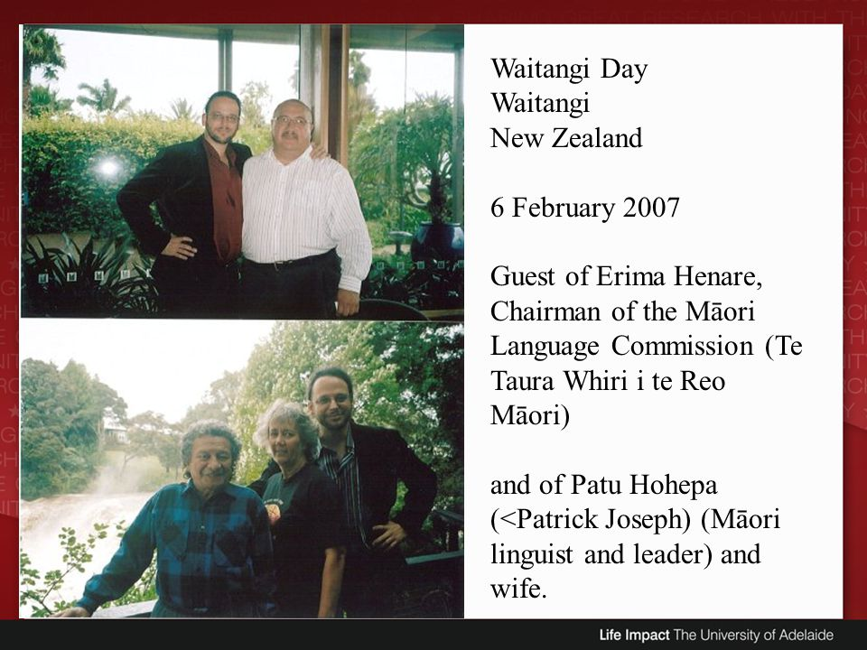 Waitangi Day Waitangi. New Zealand.