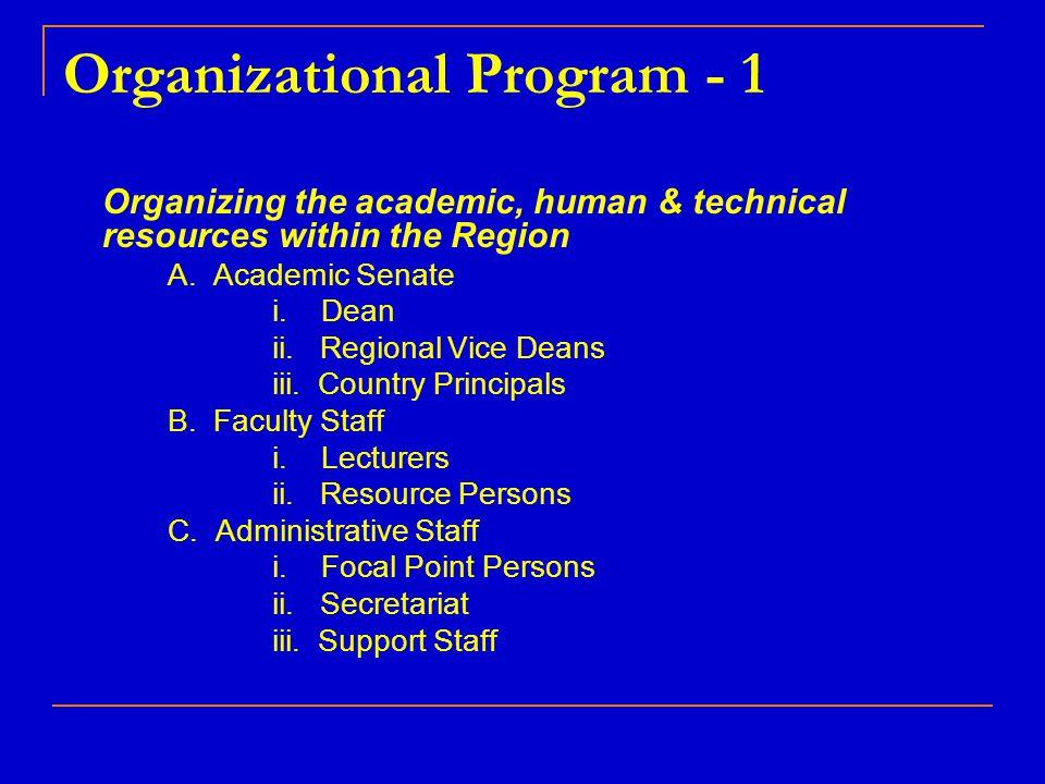 Organizational Program - 1