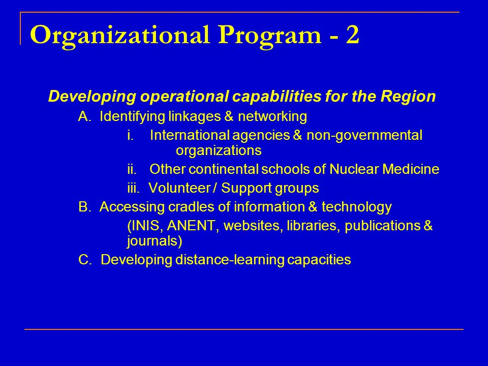 Organizational Program - 2
