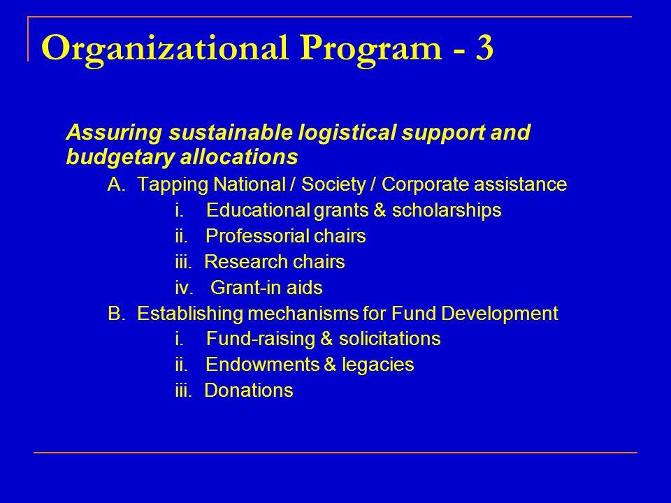 Organizational Program - 3