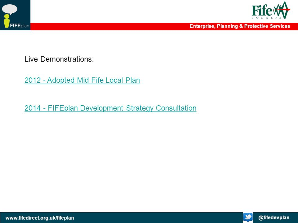 Live Demonstrations: 2012 - Adopted Mid Fife Local Plan.