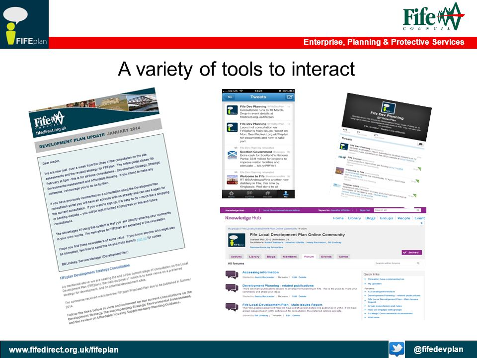 A variety of tools to interact
