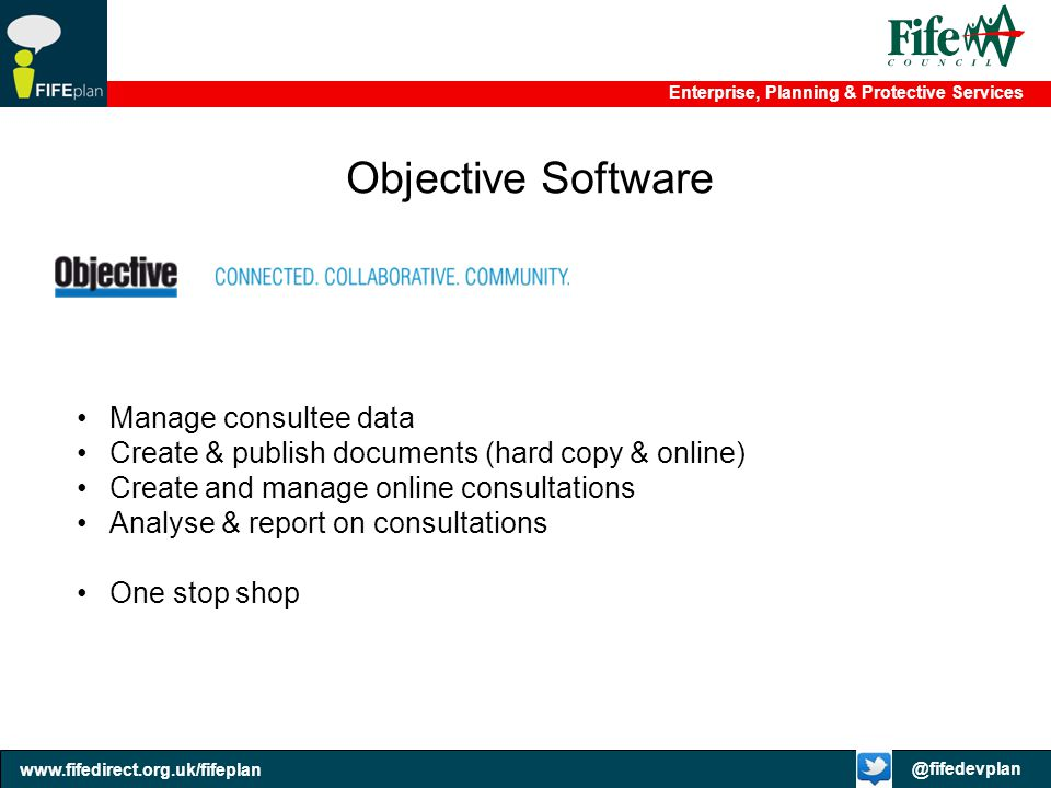 Objective Software Manage consultee data