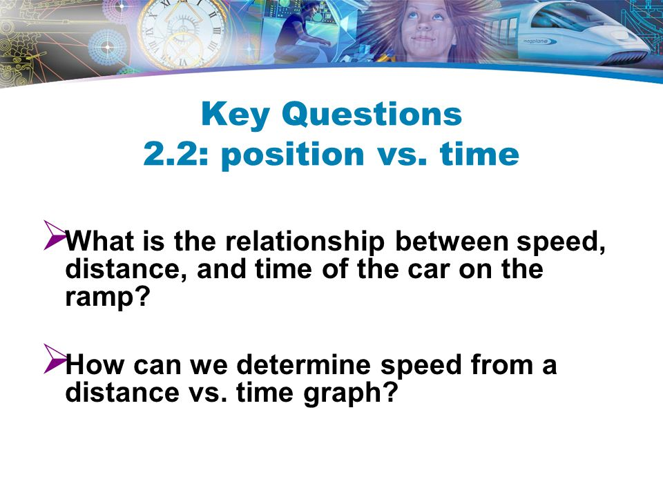 Key Questions 2.2: position vs. time
