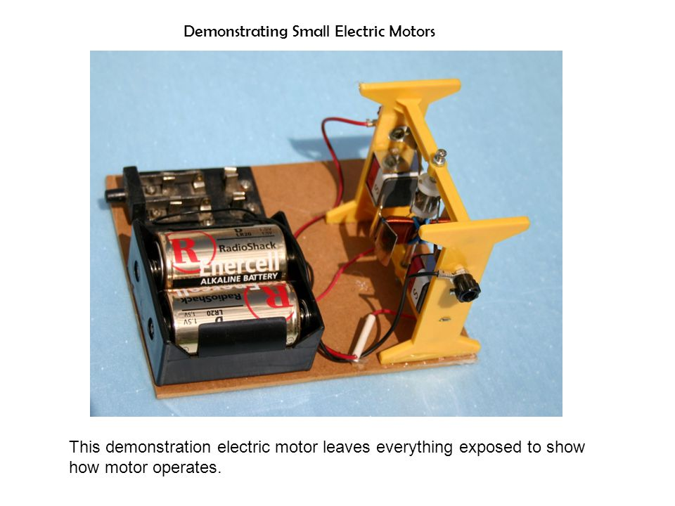 Demonstrating Small Electric Motors