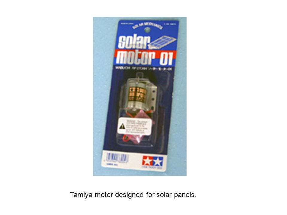 Tamiya motor designed for solar panels.