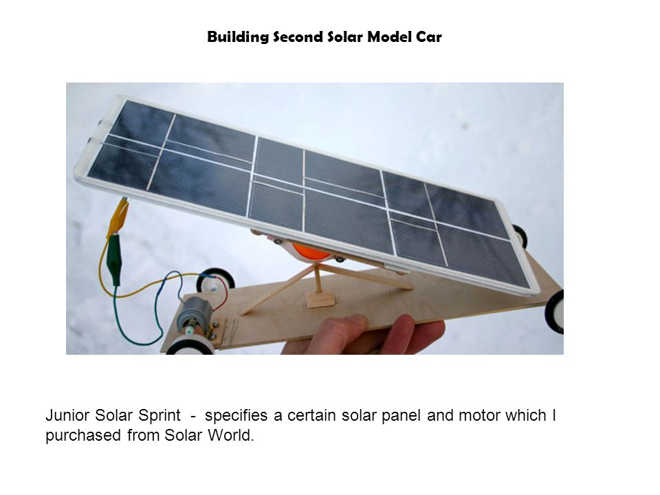 Building Second Solar Model Car