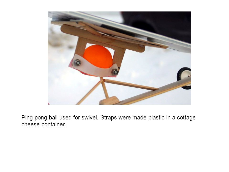 Ping pong ball used for swivel
