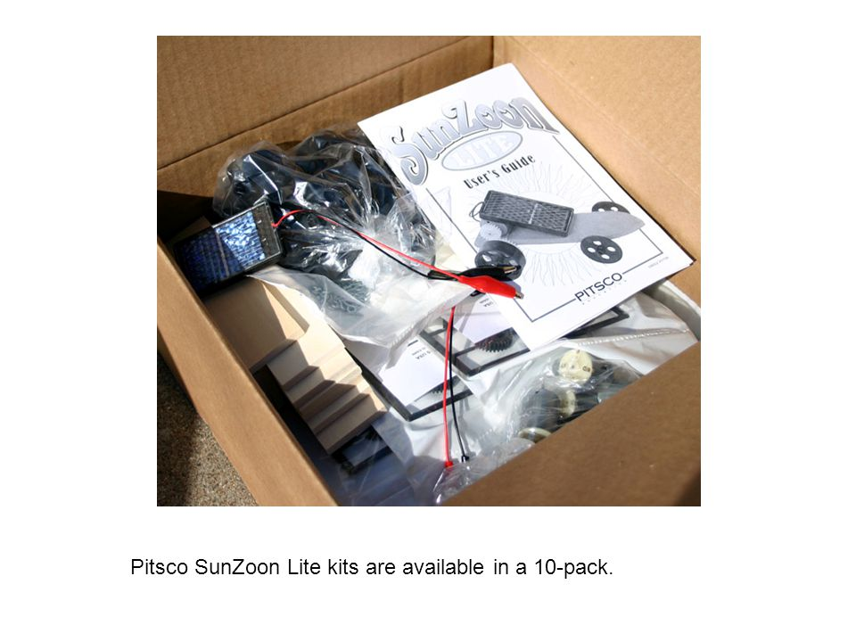 Pitsco SunZoon Lite kits are available in a 10-pack.