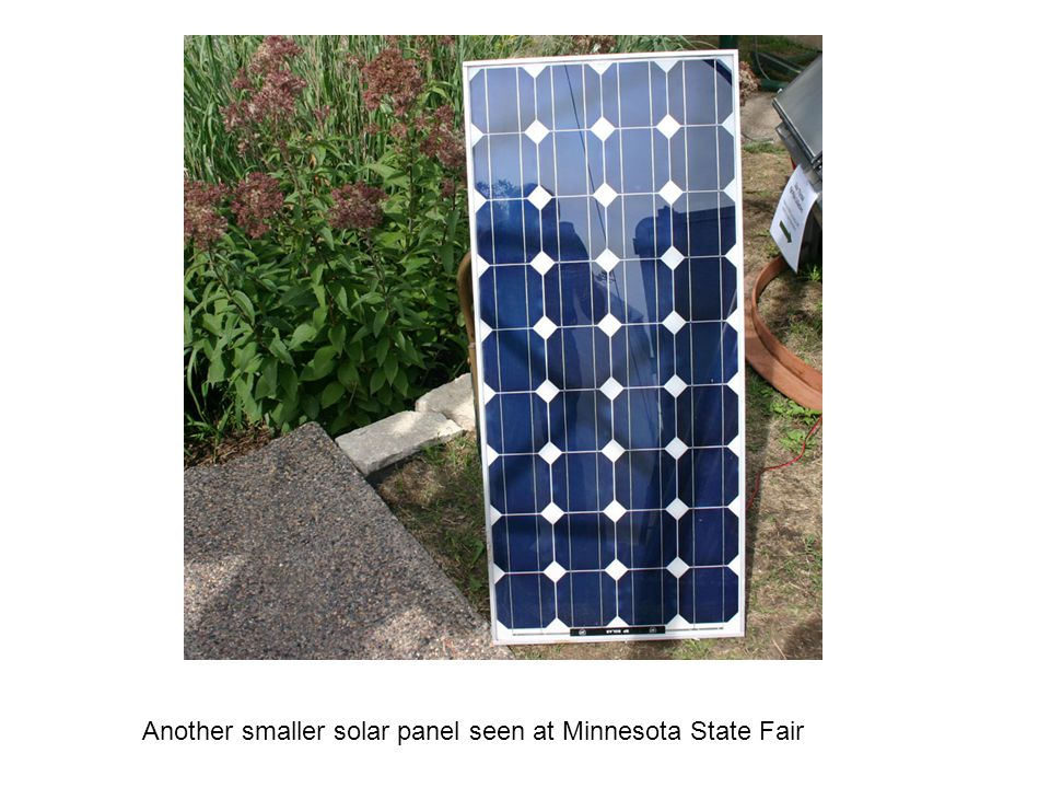 Another smaller solar panel seen at Minnesota State Fair