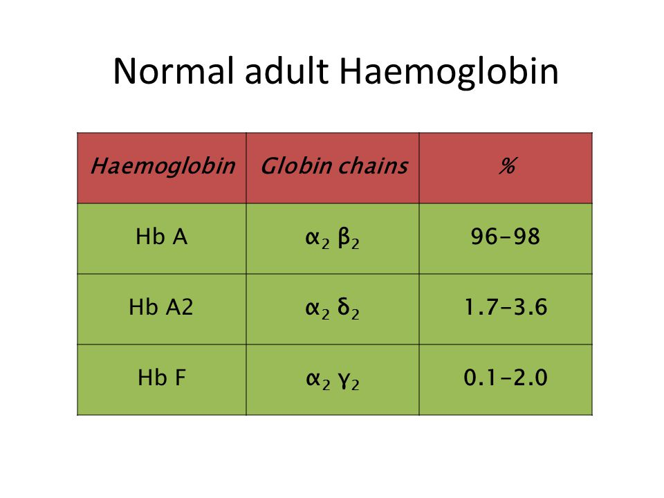 Normal adult Haemoglobin